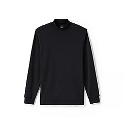Lands' End - Black supima jersey polo neck