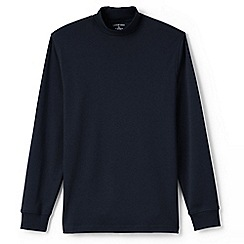 Lands' End - Blue supima jersey polo neck