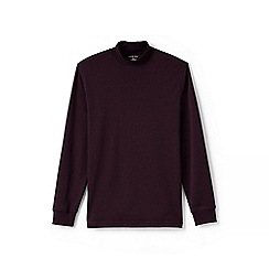 Lands' End - Red supima jersey polo neck