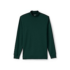 Lands' End - Green supima jersey polo neck