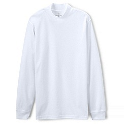 Lands' End - White supima jersey polo neck