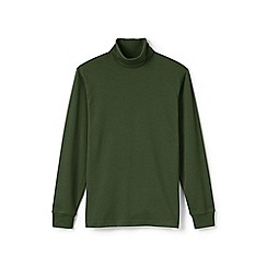 Lands' End - Green supima jersey roll neck