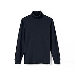 Lands' End - Blue supima jersey roll neck
