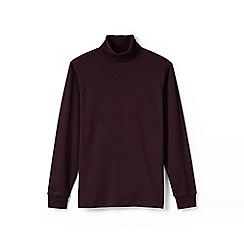 Lands' End - Red supima jersey roll neck