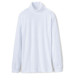 Lands' End - White supima jersey roll neck
