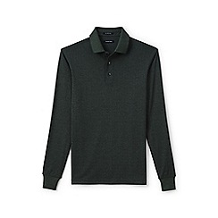 Lands' End - Green supima jacquard polo