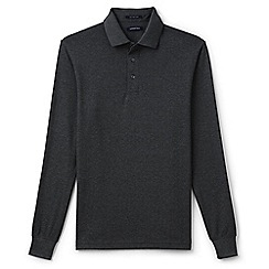 Lands' End - Grey supima jacquard polo