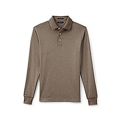 Lands' End - Brown supima jacquard polo
