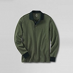 Lands' End - Green men's supima jacquard polo