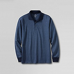 Lands' End - Blue supima jacquard polo