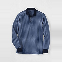 Lands' End - Blue men's supima jacquard polo