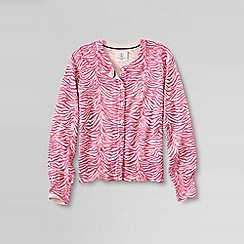 Lands' End - Pink girls' patterned sophie cardigan
