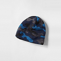 Lands' End - Blue boys' patterned thermacheck 100 fleece hat