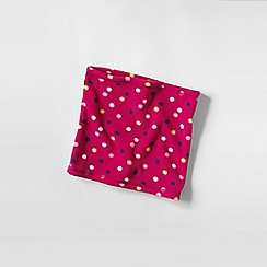 Lands' End - Pink girls' patterned thermacheck 100 neck warmer