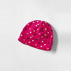 Lands' End - Pink girls' patterned thermacheck 100 fleece hat