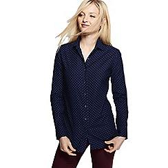 Lands' End - Blue patterned cord shirt