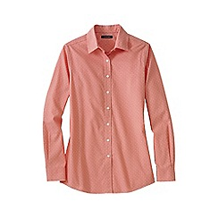 Lands' End - Orange patterned cord shirt