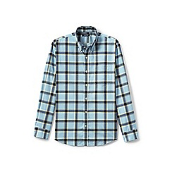 Lands' End - Grey traditional fit easy-iron twill shirt