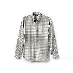 Lands' End - Green traditional fit easy-iron twill shirt