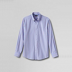 Lands' End - Blue men's traditional fit easy-iron twill shirt