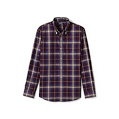 Lands' End - Red traditional fit easy-iron twill shirt