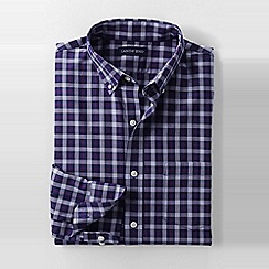 Lands' End - Purple men's traditional fit easy-iron twill shirt