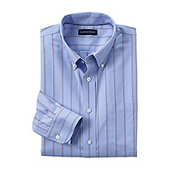 Lands' End - Blue traditional fit easy-iron twill shirt