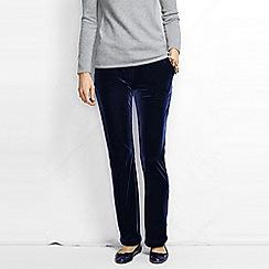 Lands' End - Blue women's stretch knit velvet trousers
