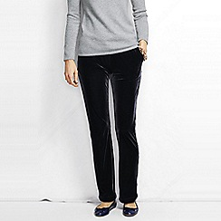Lands' End - Black women's stretch knit velvet trousers