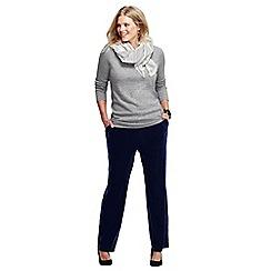 Lands' End - Blue women's plus stretch knit velvet trousers