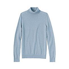 Lands' End - Blue women's cashmere roll neck