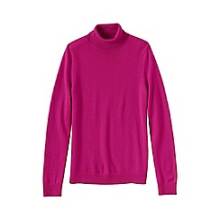 Lands' End - Pink women's cashmere roll neck