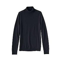 Lands' End - Black cashmere roll neck