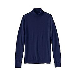 Lands' End - Blue petite cashmere roll neck