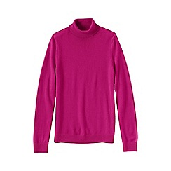 Lands' End - Pink petite cashmere roll neck