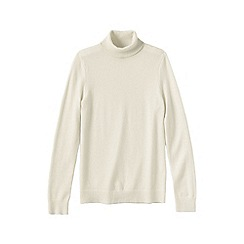 Lands' End - Cream petite cashmere roll neck