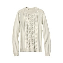 Lands' End - White women's drifter funnel neck jumper