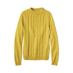 Lands' End - Gold women's drifter funnel neck jumper