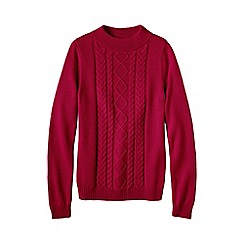Lands' End - Red women's drifter funnel neck jumper