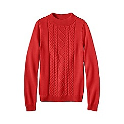 Lands' End - Orange drifter funnel neck jumper