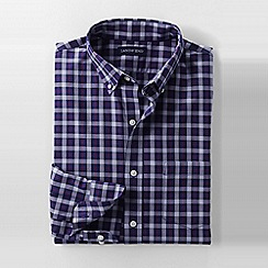 Lands' End - Purple men's regular tailored fit easy-iron twill shirt