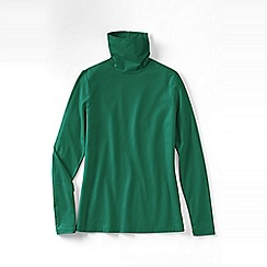 Lands' End - Green plus regular fitted cotton/modal roll neck