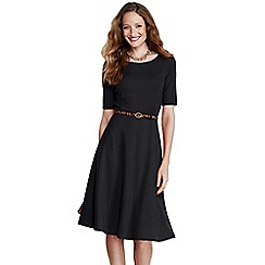 Lands' End - Black women's ponte jersey boatneck dress