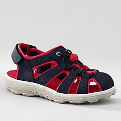 Lands' End - Blue kids' closed-toe action sandals
