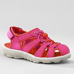Lands' End - Pink kids' closed-toe action sandals