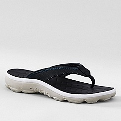 Lands' End - Black kids' action flip-flops