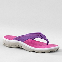 Lands' End - Purple kids' action flip-flops