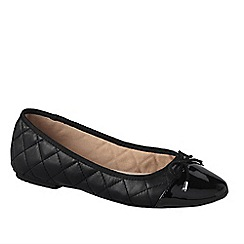 Lands' End - Black brooklyn cap toe ballet shoes