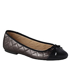 Lands' End - Grey women's brooklyn cap toe ballet shoes
