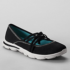 Lands' End - Black women's  alpargata mary jane shoes